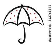 cute black white red linear... | Shutterstock .eps vector #512765596