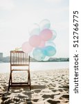 balloons at the beach | Shutterstock . vector #512766775