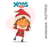 cheerful child. winter...   Shutterstock .eps vector #512770522