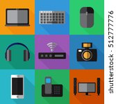 set of simple devices flat... | Shutterstock .eps vector #512777776