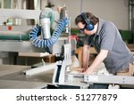 carpenter working on an... | Shutterstock . vector #51277879
