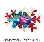 christmas infographic business...   Shutterstock .eps vector #512781148