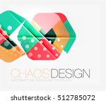 abstract background with round...   Shutterstock .eps vector #512785072