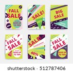 bright design sale set website... | Shutterstock .eps vector #512787406