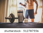 whey protein shaker and... | Shutterstock . vector #512787556