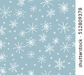 hand drawn winter seamless... | Shutterstock .eps vector #512809378