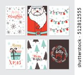 vector merry christmas greeting ... | Shutterstock .eps vector #512812555