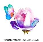 Beautiful Watercolor Flower...