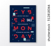 swiss style cyber monday sale... | Shutterstock .eps vector #512818366