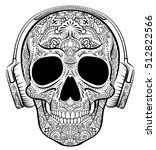 vector skull graphics with... | Shutterstock .eps vector #512822566