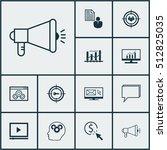 set of seo icons on keyword... | Shutterstock .eps vector #512825035
