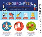 kindergarten infographic set... | Shutterstock .eps vector #512825692