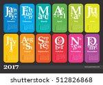 creative calendar 2017   week... | Shutterstock .eps vector #512826868