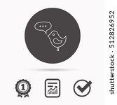 bird with speech bubble icon.... | Shutterstock .eps vector #512826952
