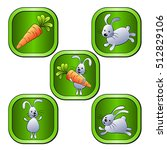green icons with rabbits and... | Shutterstock .eps vector #512829106