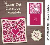 lasercut vector wedding...   Shutterstock .eps vector #512841322