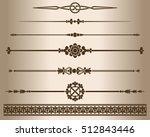 decorative elements. design... | Shutterstock .eps vector #512843446