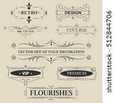 vector set of calligraphic... | Shutterstock .eps vector #512844706