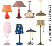 lamps furniture set light... | Shutterstock .eps vector #512846128