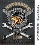 vintage motorcycle label | Shutterstock .eps vector #512852182
