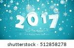 happy new year 2017 text design.... | Shutterstock .eps vector #512858278