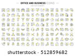 set vector line icons in flat... | Shutterstock .eps vector #512859682