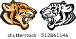 tiger face | Shutterstock .eps vector #512861146