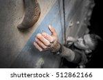 man climbing on a climbing gym. ... | Shutterstock . vector #512862166