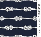 seamless nautical rope pattern. ... | Shutterstock .eps vector #512863552