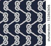 Seamless Nautical Rope Pattern...
