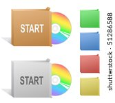 start. box with compact disc. | Shutterstock .eps vector #51286588