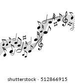 music notes on a solide white... | Shutterstock .eps vector #512866915