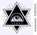 all seeing eye is on the... | Shutterstock .eps vector #512870272
