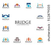 bridge connection logo for your ... | Shutterstock .eps vector #512879335