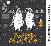 winter christmas print design... | Shutterstock .eps vector #512880556