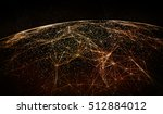 connection lines around earth... | Shutterstock . vector #512884012