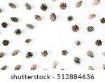 minimal creative cone frame... | Shutterstock . vector #512884636