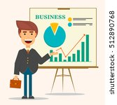 young business man in business... | Shutterstock .eps vector #512890768