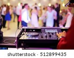 dancing couples during party or ... | Shutterstock . vector #512899435