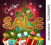 sale. christmas sale background. | Shutterstock .eps vector #512900692