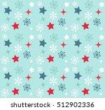 christmas vector seamless... | Shutterstock .eps vector #512902336