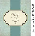 vintage frame vector background