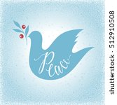 peace dove with branch on the... | Shutterstock .eps vector #512910508