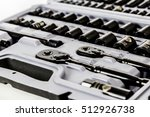 socket wrench set on a bright... | Shutterstock . vector #512926738