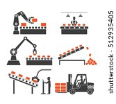 icons production lines of the... | Shutterstock .eps vector #512935405