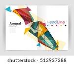 business triangle design modern ... | Shutterstock . vector #512937388