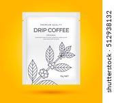 packaging design for drip... | Shutterstock .eps vector #512938132