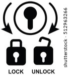 lock and unlock position sign... | Shutterstock .eps vector #512963266