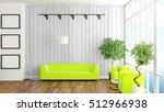 modern bright interior . 3d... | Shutterstock . vector #512966938