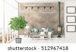 modern bright interior . 3d... | Shutterstock . vector #512967418